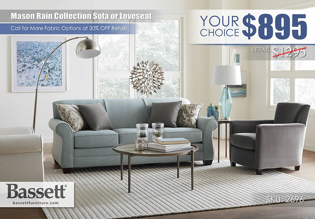 Mason Rain Living Collection Sofa OR Loveseat Special_2696-62A-Mason-FA18_YourChoice