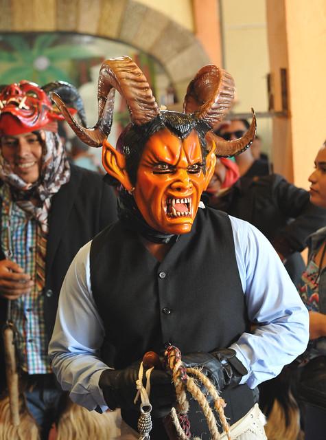 Ocotlan Carnaval Devil Oaxaca Mexico