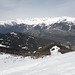 Pohled na skiareál Serfaus-Fiss-Ladis od horní stanice kotvy Planggerlift
