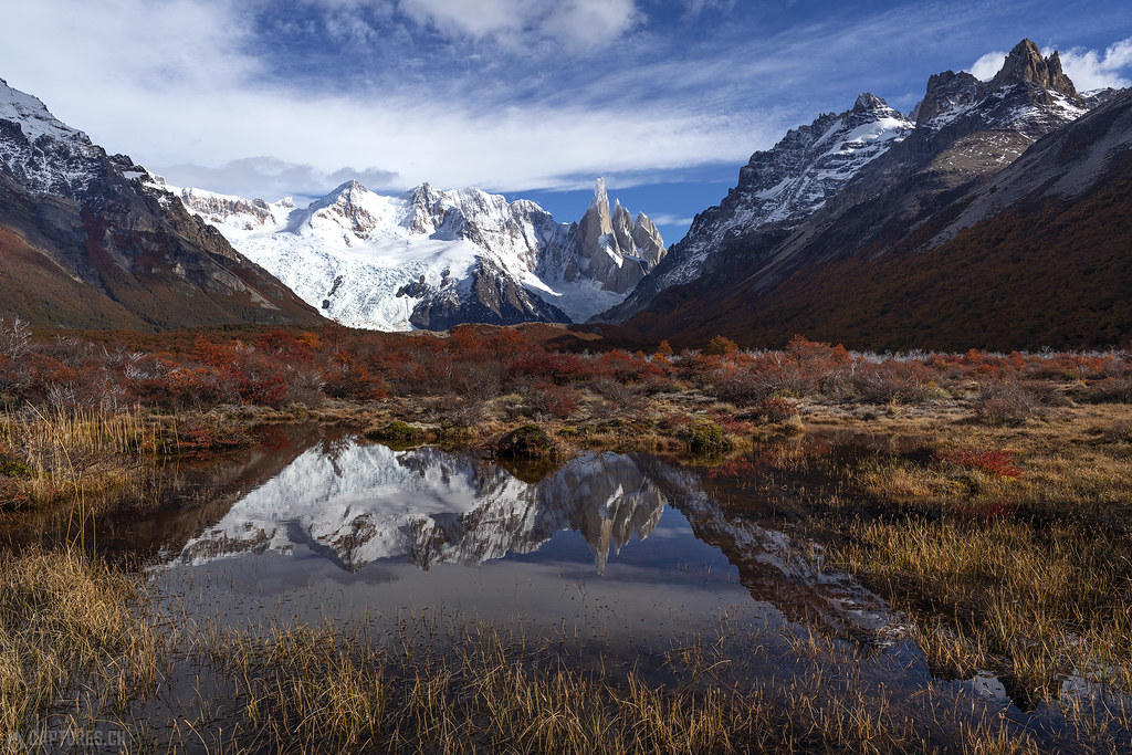 Cerro Torre tarn reflection - El Chalten