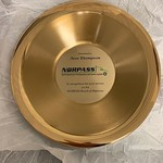 Gold Pan presented to Aves Thompson for his service on the NORPASS Board of Directors
