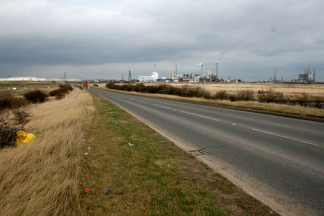 The A178 near Middlesbrough