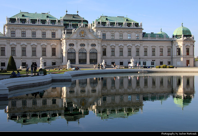 Schloss Belvedere reflection, Vienna, Austria