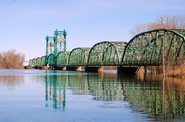 Florence Bridge over the Illinois River - Florence, Illinois