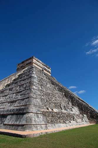 Temple Of Kukulcan And The Big Blue Sky