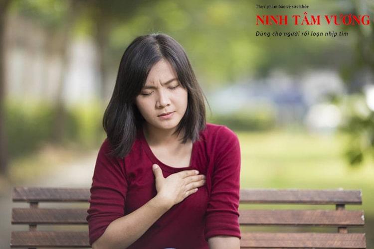 Rối loạn thần kinh thực vật khiến bà H bị tim đập nhanh. loạn nhịp