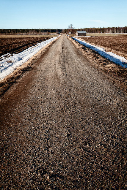 Gravel Road By The Barn House