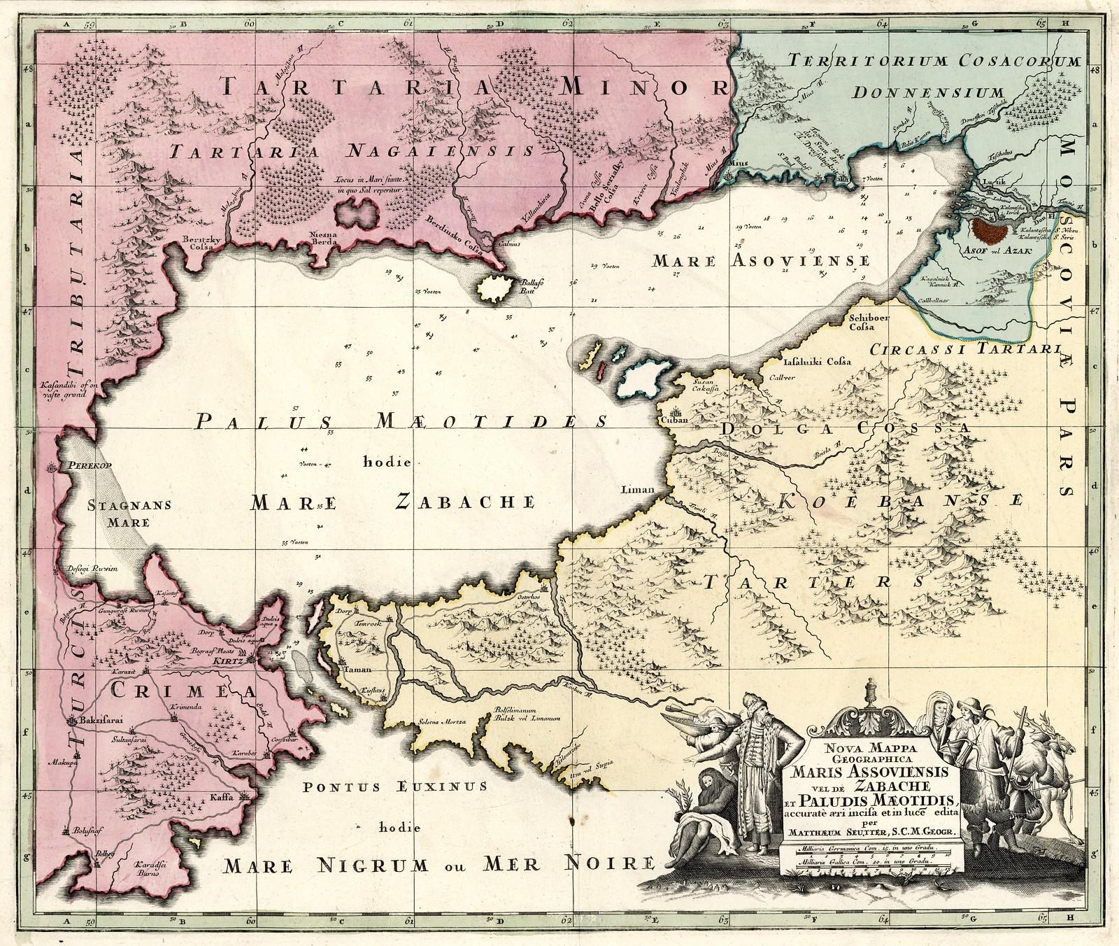 1730. Новая географическая карта Азовского моря