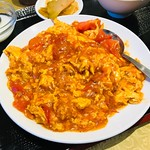 Chinese style 'stir-fried tomato and scrambled eggs' - Stock image
