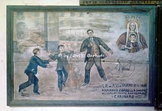 Villa di Briano (CE), 1975, festa al Santuario della Madonna di Briano: ex voto.