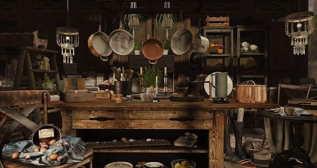 Copper Kitchen Clutter