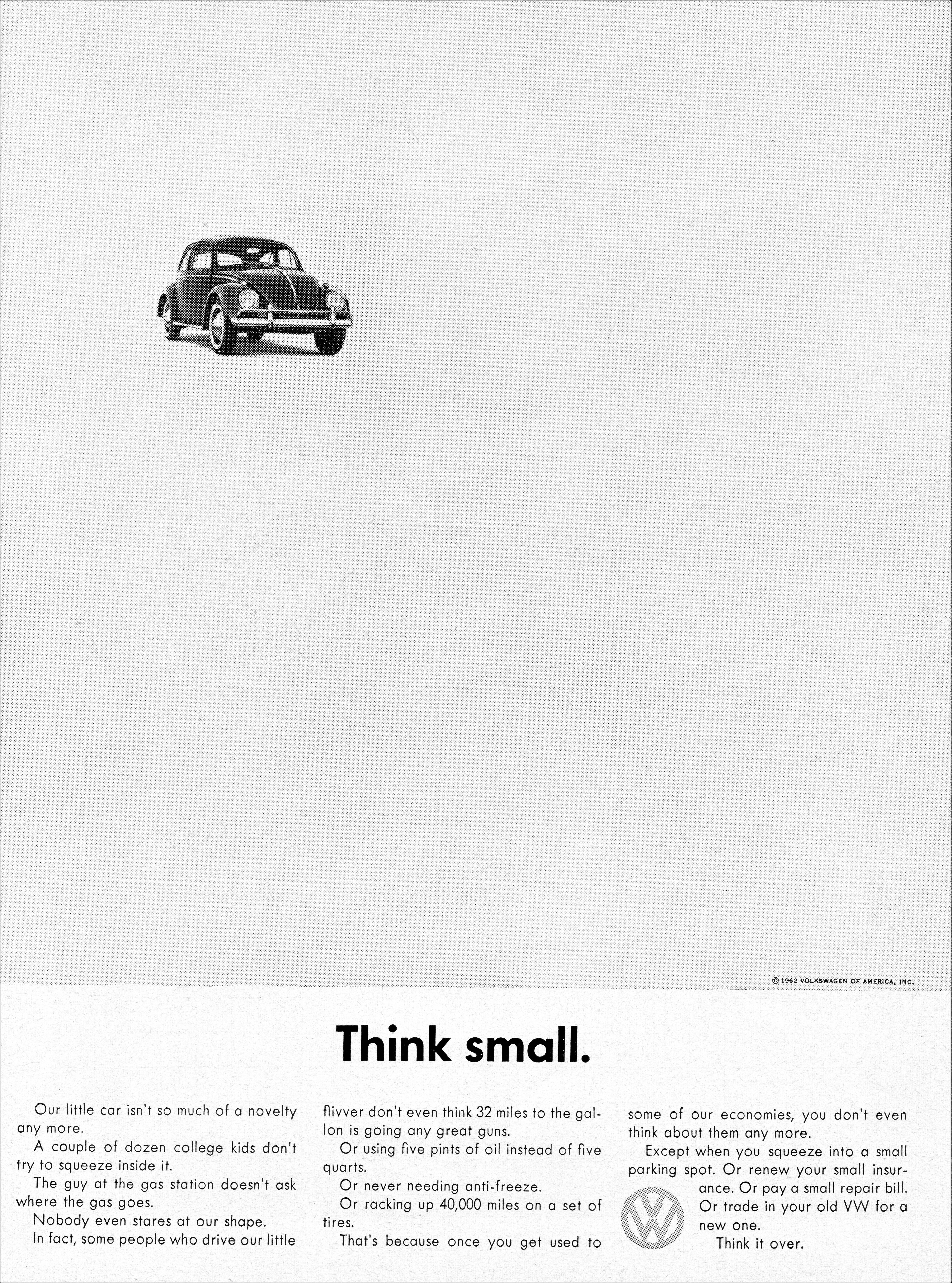 1962 Volkswagen Ad