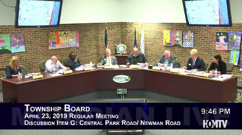Township Board Discusses Road Diet for Central Park Drive and Newman Road