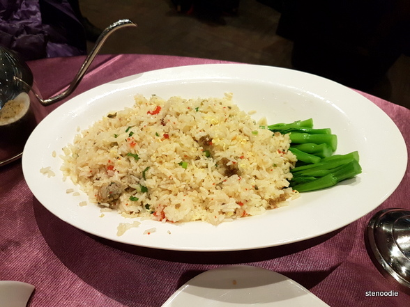 Lobster Roe Fried Rice with Vegetable