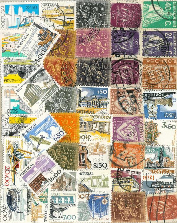 Známky Portugalsko balíček 35 ks rôznych