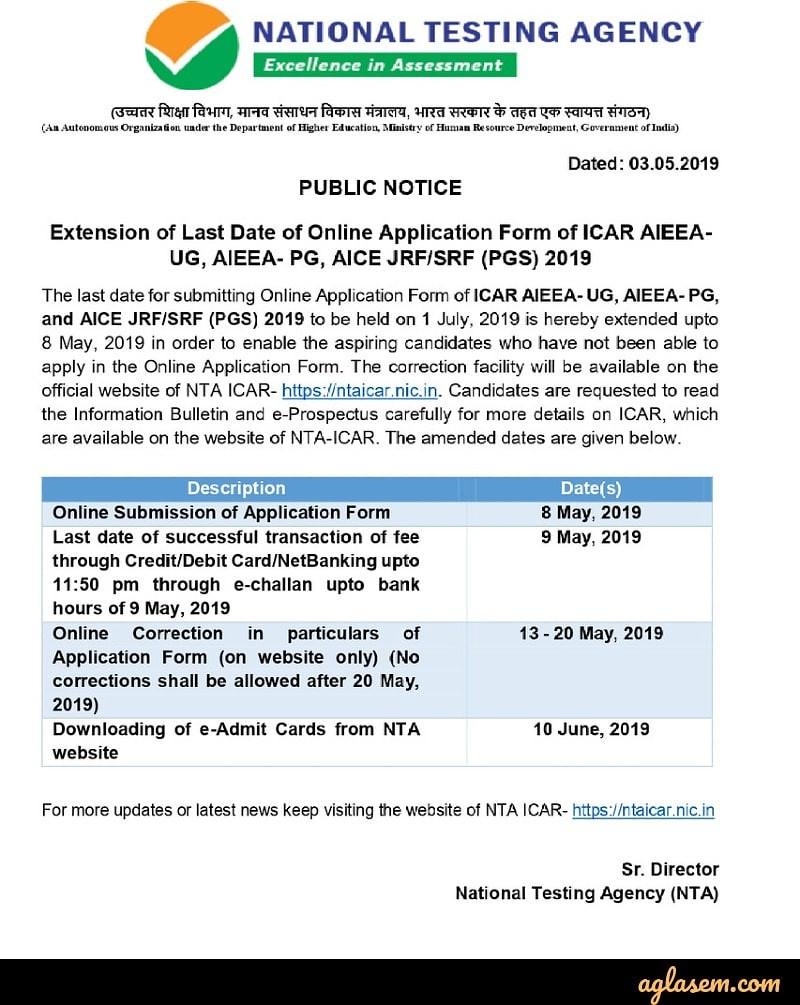 AIEEA 2019 Form