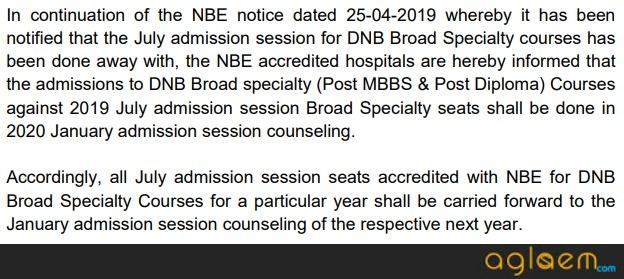 DNB CET 2019 | DNB CET January 2019 | Medical Entrance Exams in India