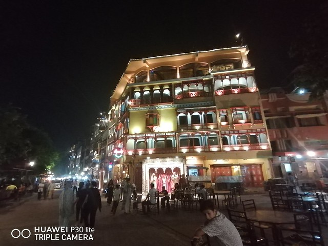 Building Picture at night with Ultra Wide angle lens on Huawei P30 Lite