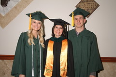 Lake Campus Education Professor Betsy Crites with her two children, Nicole and Aaron.