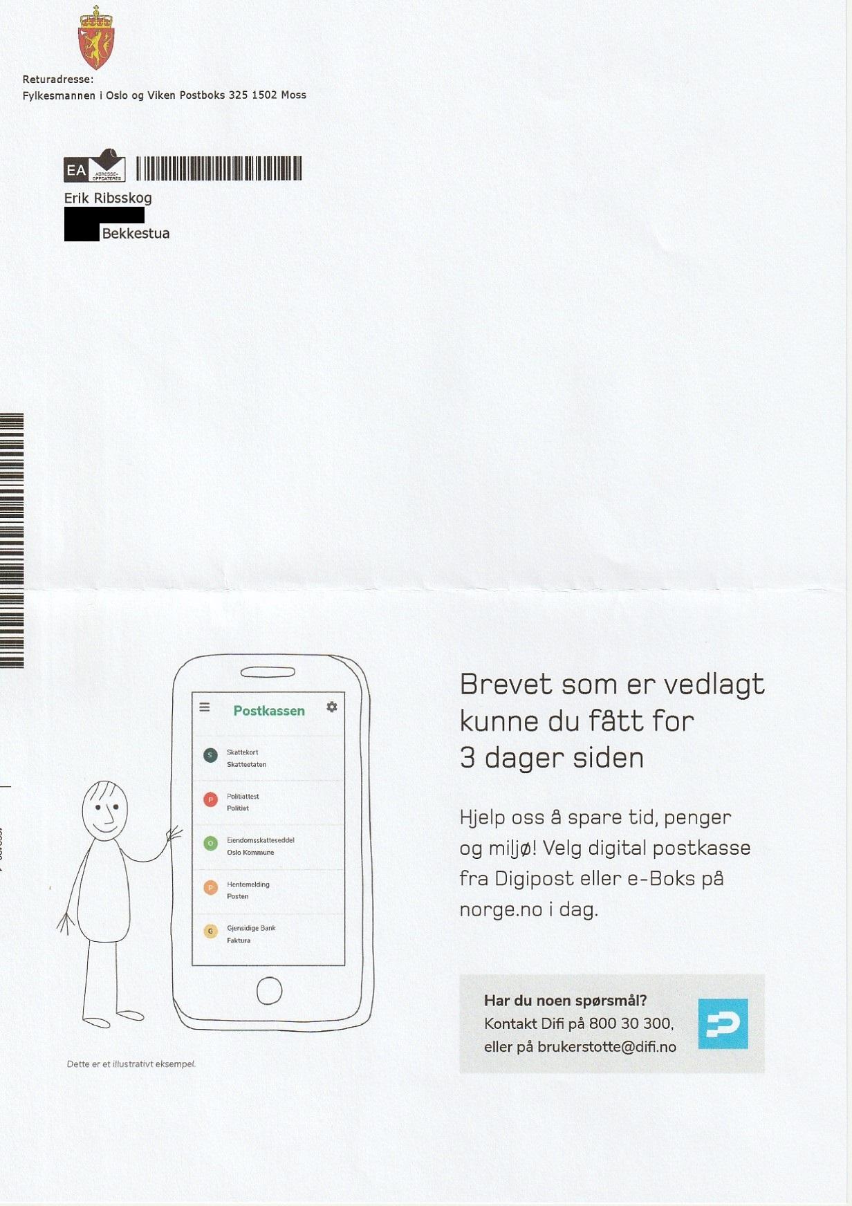 7ff14498 johncons: Jeg sendte en e-post til Fylkesmannen i Oslo og Viken