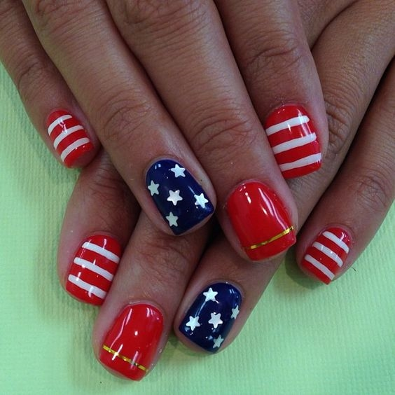 Nails for Fourth of July