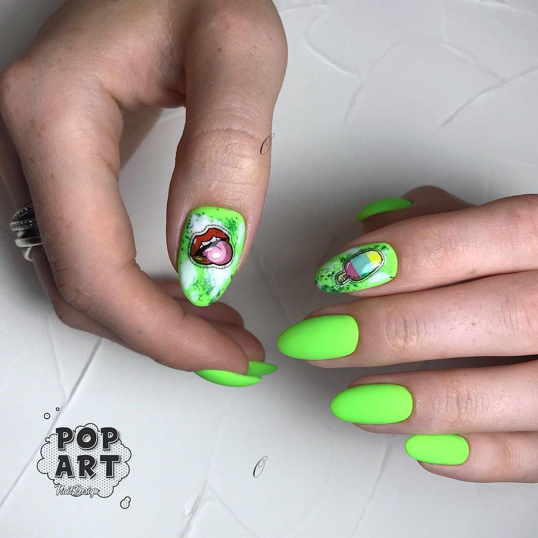 Pop Art Nail Design