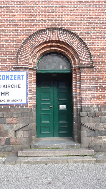 1838/41 Berlin Rundbogenportal evangelische Kirche St. Laurentius in Rundbogenstil von Butzke Kirchstraße in 12555 Köpenick