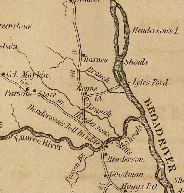 Newberry District 1825 - Henderson Ferry