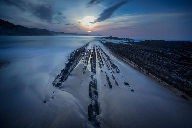 Zumaia coast /  Itzurun Beach /Spain 2019
