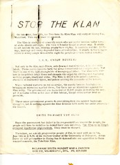 Call for an anti-Klan rally in Maryland: 1971