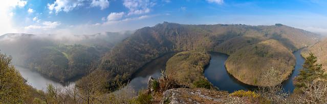 Méandre de Queuille, Auvergne, Puy de Dôme