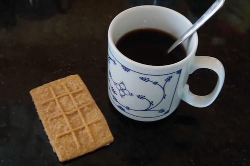 Kaffee mit Keks zur Begrüßung