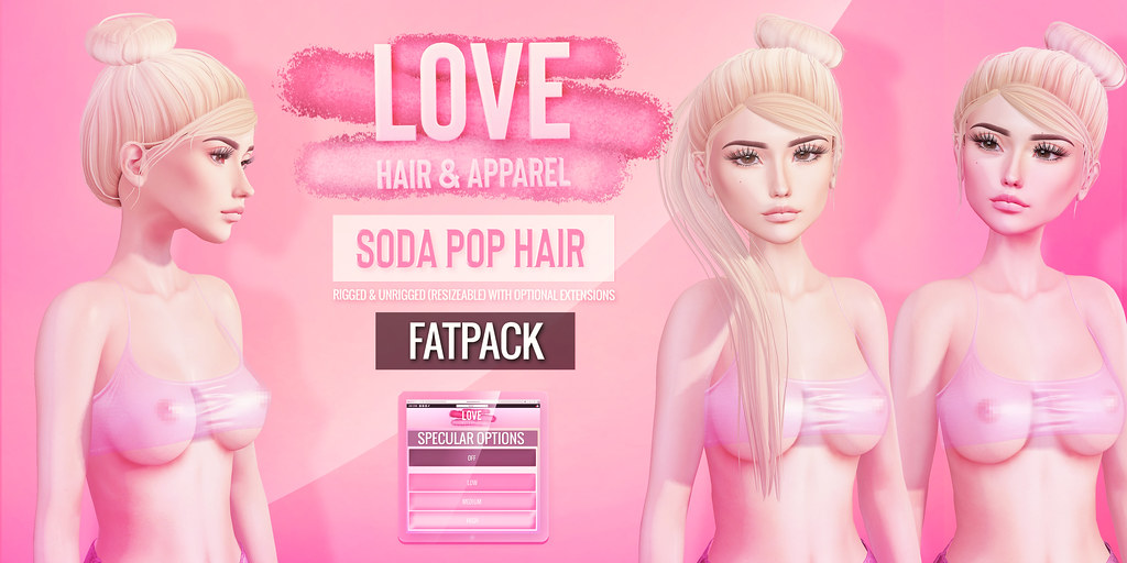 Love [Soda Pop] Hair FATPACK - The Saturday Sale! 5/4/19 - TeleportHub.com Live!