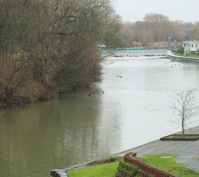 Weir Seen from Workman Bridge, Evesham