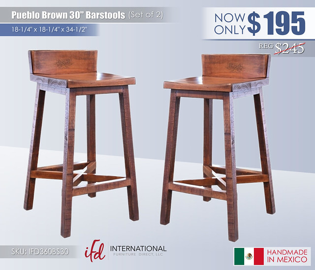 Pueblo Brown 30in Barstools_IFD360BS30