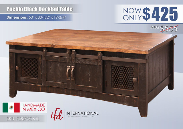 Pueblo Black Cocktail Table_FD370CKTL