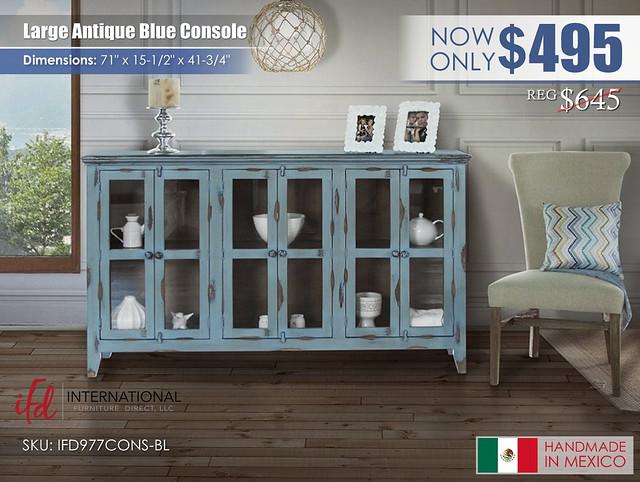 Large Antique Blue Console_IFD977CONS_BL