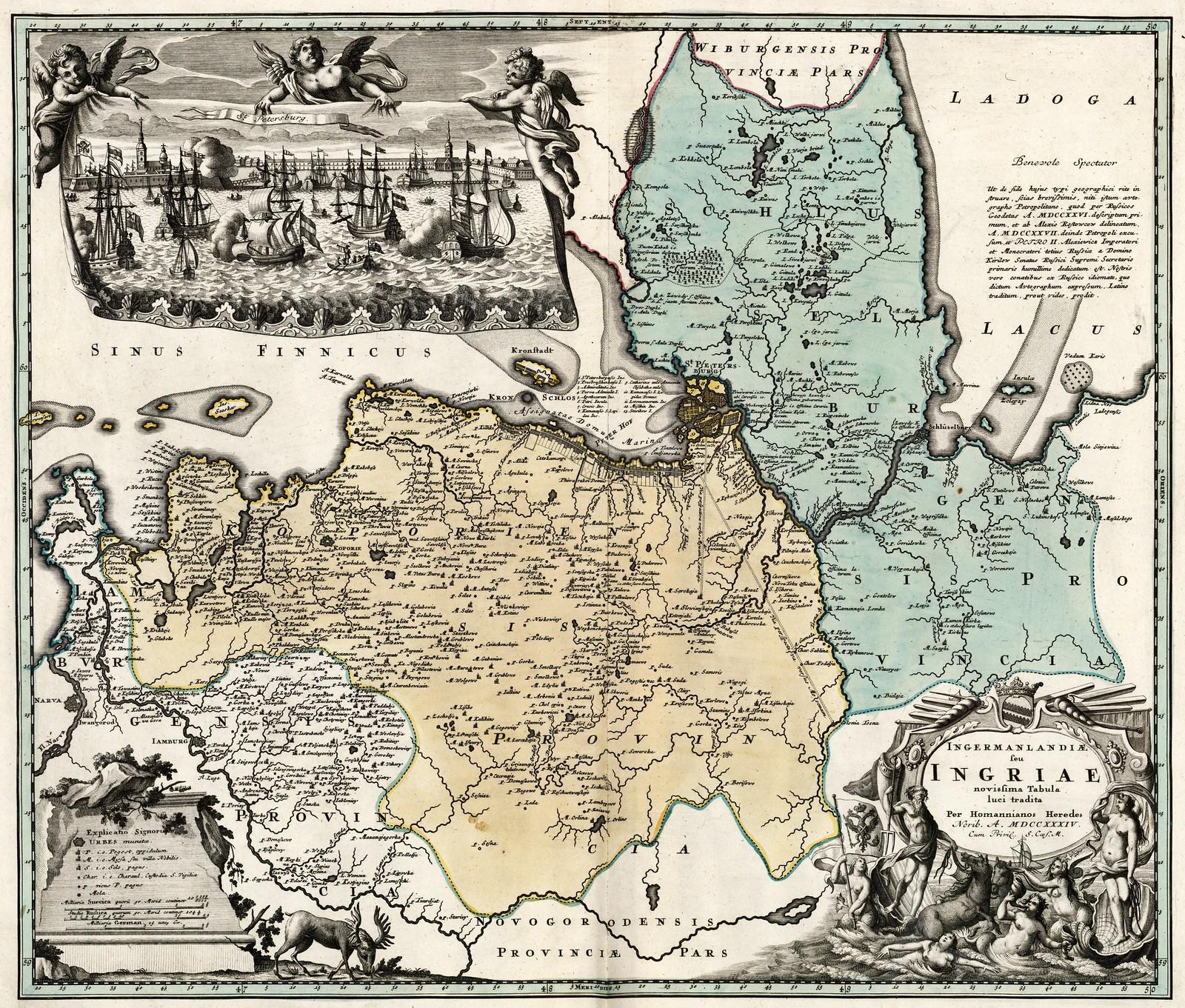 1734. Карта Ингрии