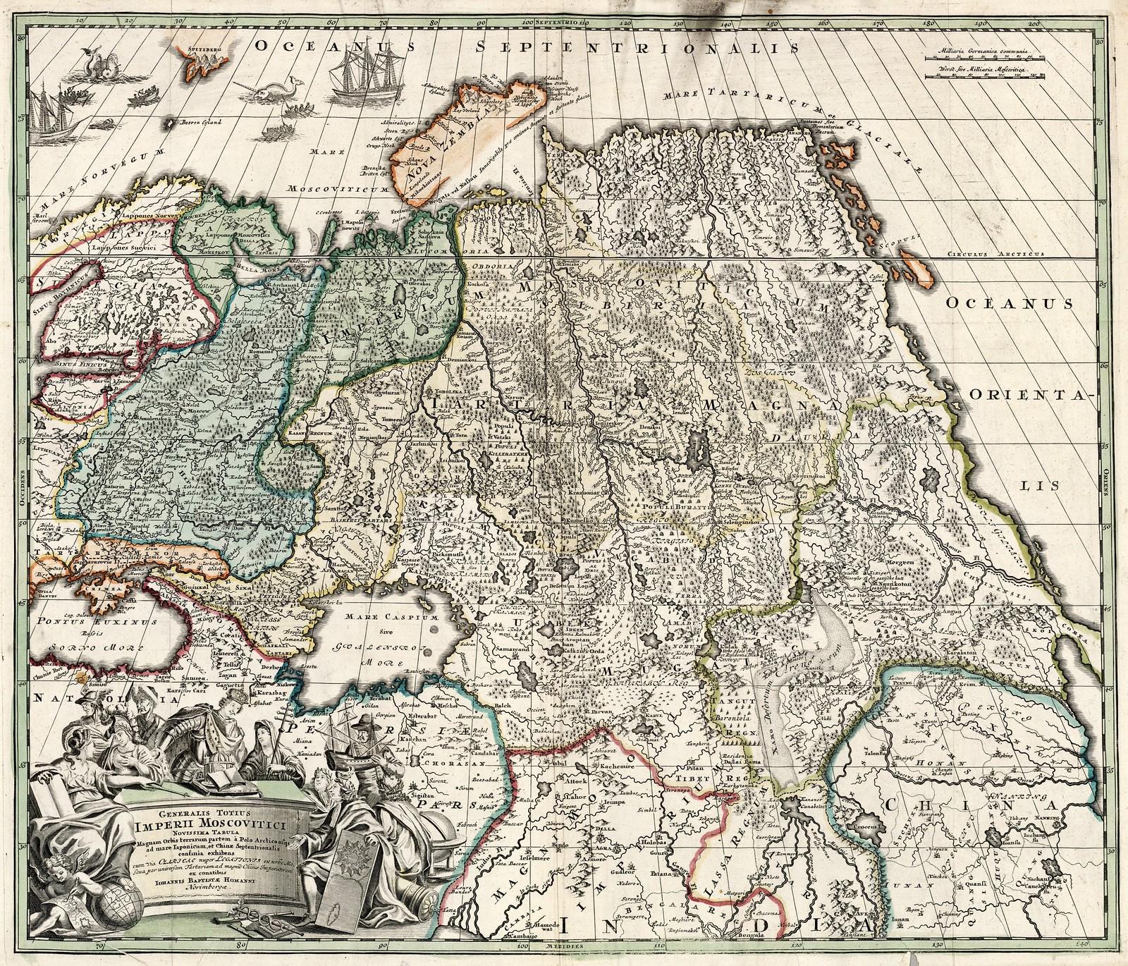 1705. Общая карта империи московитов