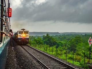 Kalyan WDP-4D #40346 with CSMT MAO Konkan Kanya Express !