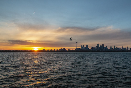 Sunset over the skyline of Toronto April 27 2019 | by A Great Capture