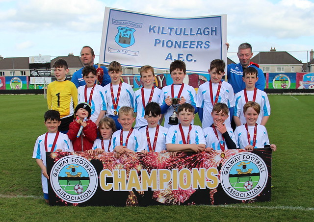 27.04.19 : U12 Division 1 and 2 Cup Final : Kiltullagh Pioneers v Corofin Utd