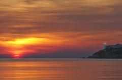 Tramonto infuocato a Talamone - Fiery sunset in Talamone