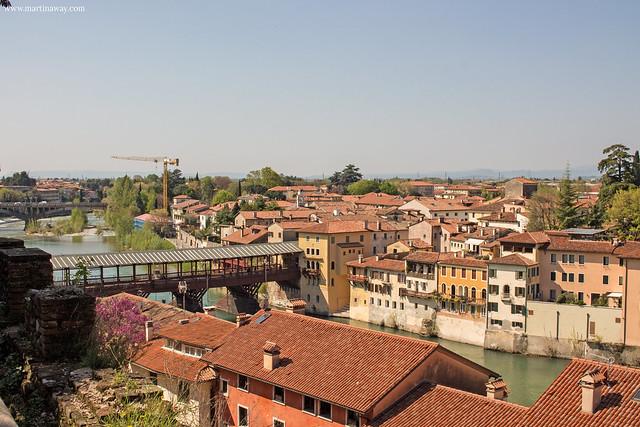 Vista dal Castello degli Ezzelini, Bassano del Grappa