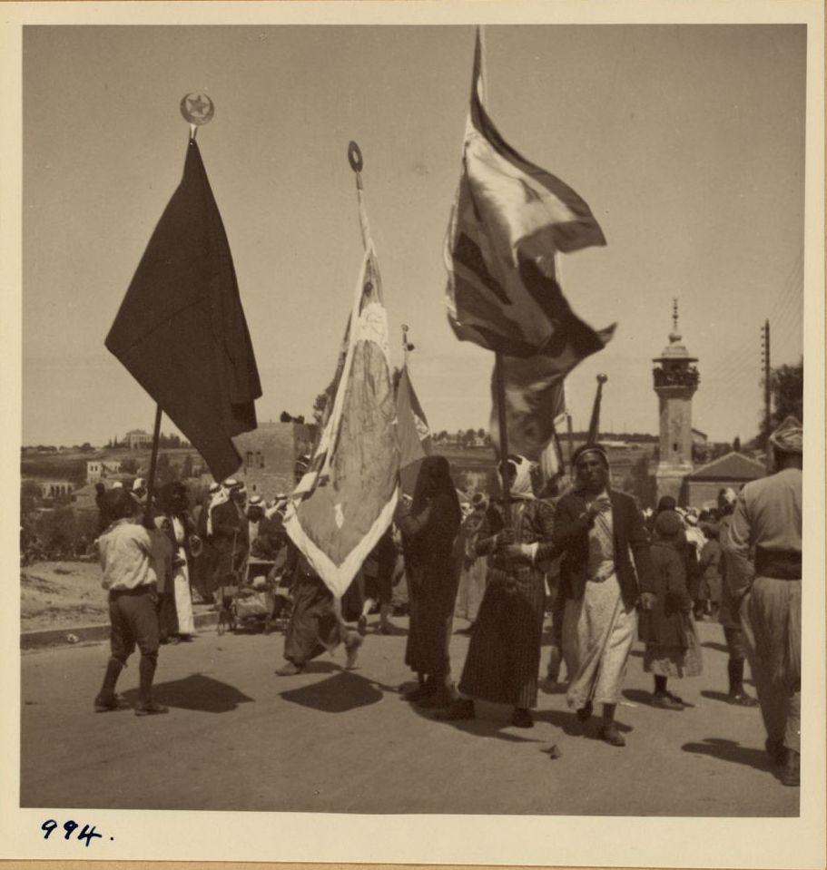 994. 2 апреля. Фестиваль Неби Муса. Флаг Шхема прибывает на фестиваль