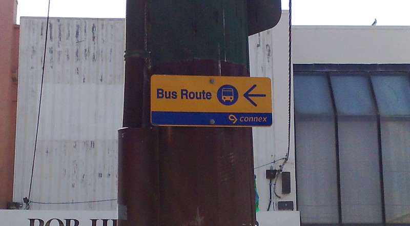 Connex bus sign, April 2009