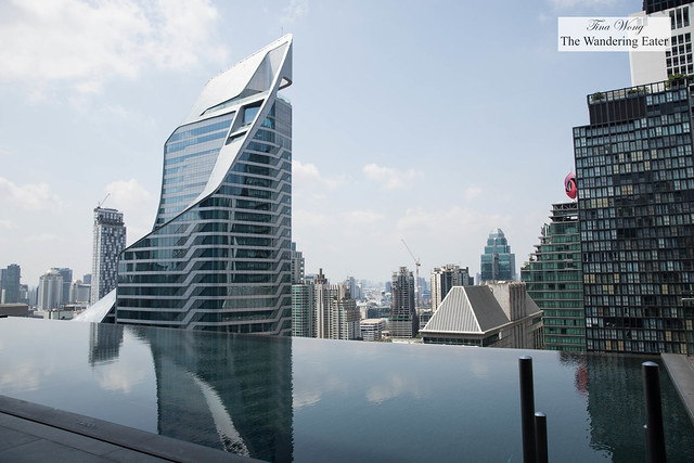 Infinity pool in the middle of Central Bangkok