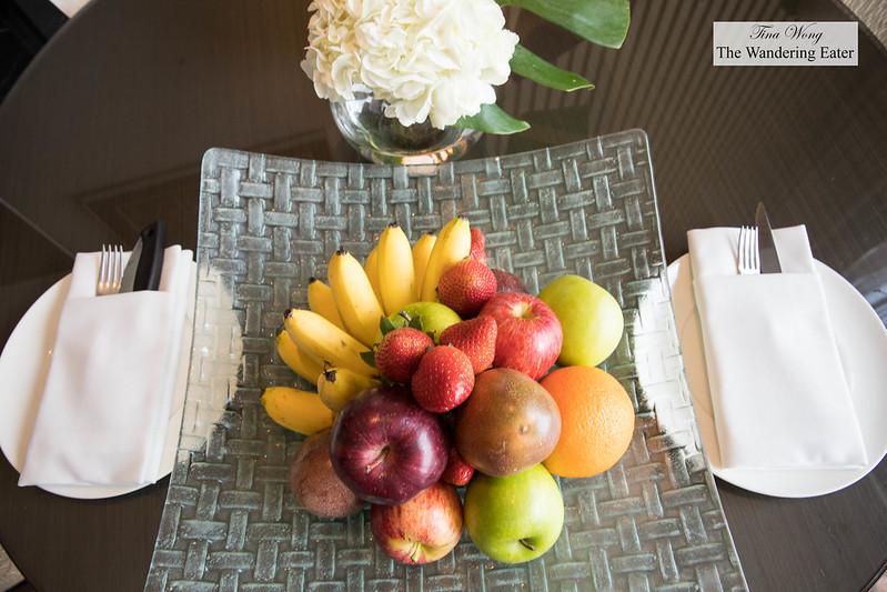 Bountiful tray of fruit