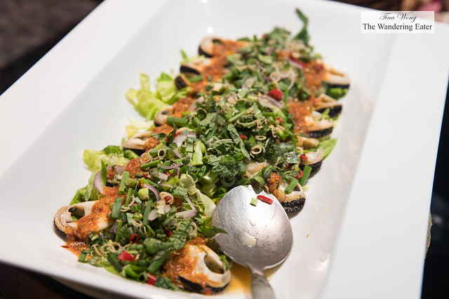 Southern Thai style spicy mussel salad