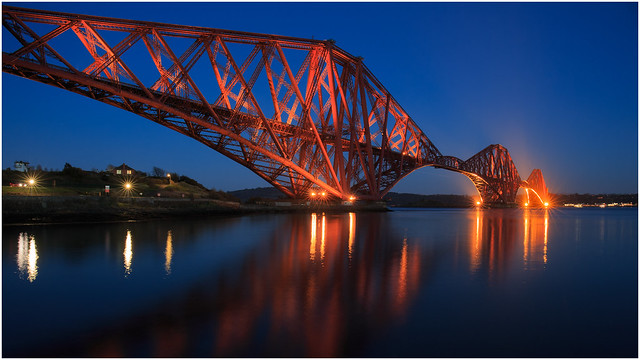 The Forth Rail Bridge In The Blue Hour